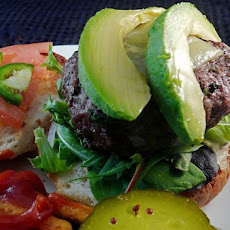 Jalapeno and Avocado Cheeseburgers