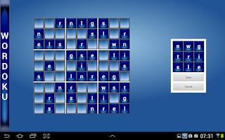 Screenshot of Wordoku