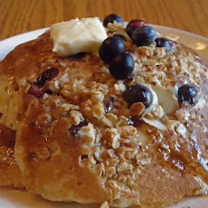 Blueberry Crisp Pancakes