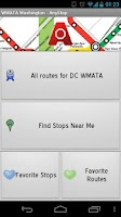 Screenshot of WMATA - Washington DC: AnyStop