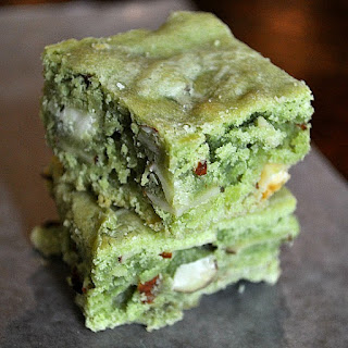 Green Tea White Chocolate Brownies