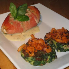 Broccoli Cheese Stuffed Chicken With Spinach Patties