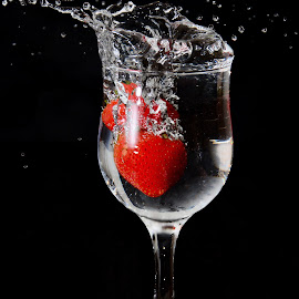 Strawberry Splash by Sarath Sankar - Food & Drink Fruits & Vegetables