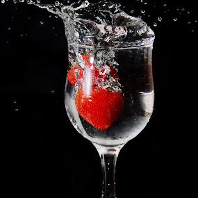 Strawberry Splash by Sarath Sankar - Food & Drink Fruits & Vegetables
