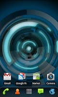 Screenshot of RLW Theme Black Blue Tech