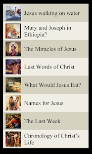 Bible Lists- The Life of Jesus - screenshot