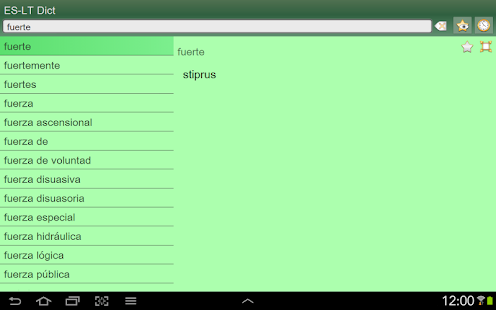 Spanish Lithuanian dictionary - screenshot