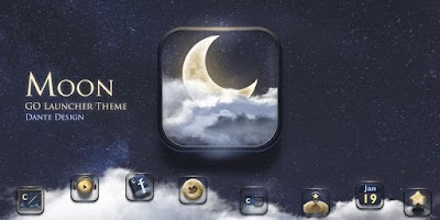 Screenshot of Moon GO Launcher Theme