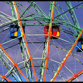 Wonder Wheel  by Dale Carney - City,  Street & Park  Amusement Parks ( amusement parks, fun, ferris wheels, coney island )