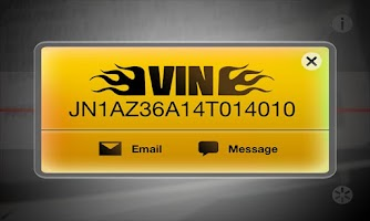 Screenshot of VIN Barcode Scanner