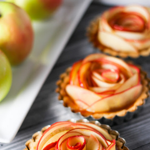 Salted Caramel Apple Tartlets