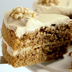 Coffee and Walnut Sponge Cake
