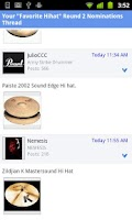 Screenshot of Pearl Drummers Forum