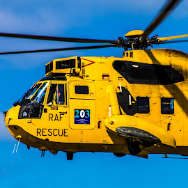 Rescue Helicopter Close Up by Dylan Barlow - Novices Only Objects & Still Life ( sea king, north wales, wales, rescue, raf, llandudno )