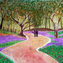 तेरा ज़िन्दगी में शामिल होना सबसे अज़ीज़ ख़्वाब का मुक़म्मल होना... by Vikas Mishra - Drawing All Drawing