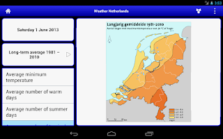 Screenshot of Weather Netherlands