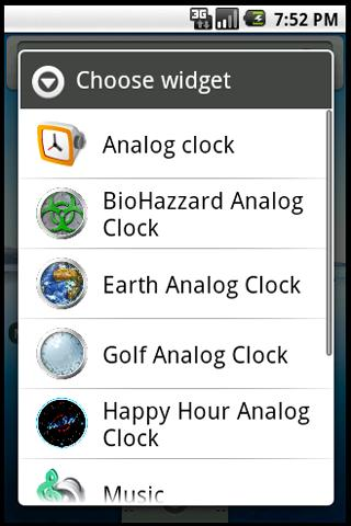 Bio Hazard Clock Widget
