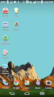 Screenshot of LGHome Mini Stickers theme