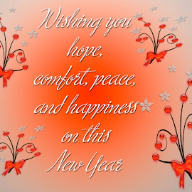 Happy new year by Dipali S - Typography Quotes & Sentences ( old, eve, ornate, wish, illustration, round, circle, minute, time, sparkler, midnight, happy, clipart, card, year, celebrate, light, black, decoration, greeting, 2015, wallpaper, snowflakes, christmas, number, hour, holiday, magic, new, countdown, branch, celebration, day )