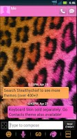 Screenshot of GO SMS Cheetah Pretty Theme