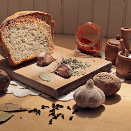Bread by Katarina Jonjic - Food & Drink Cooking & Baking ( garlic, food, bread, brown, salt )