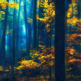 Autumn by Mihail Dulu - Landscapes Forests