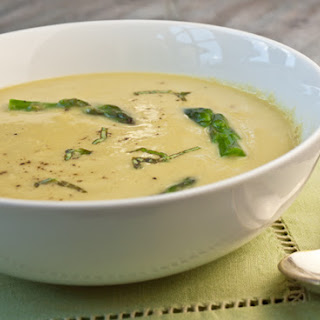 Asparagus Soup with Lemon and Parmesan