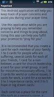 Screenshot of PrayerCard