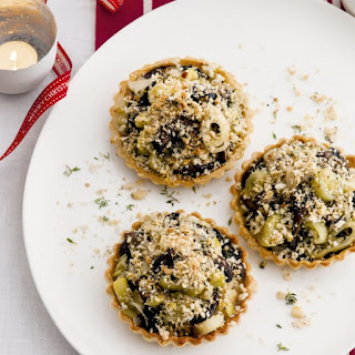 Mushroom, Leek And Crumb-topped Tartlets