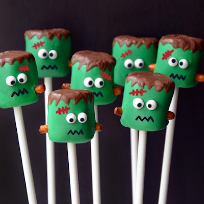 Frankenstein Marshmallow Pops