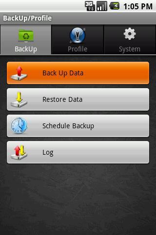 Backup Profile Manager