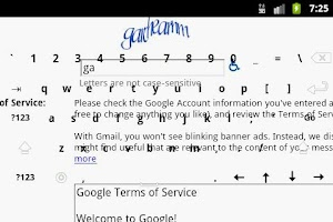 Screenshot of Transparent Keyboard