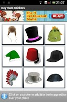 Screenshot of Boy Hats Stickers