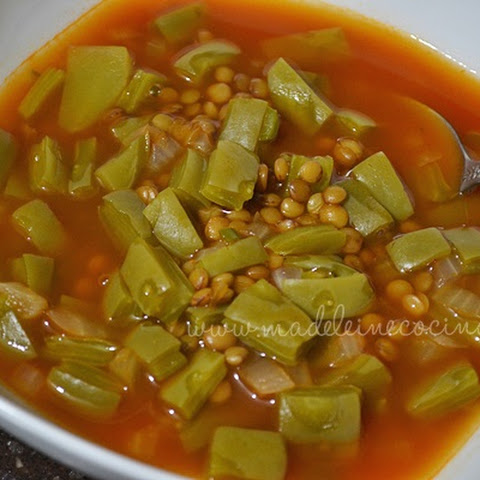 Lentil Soup With Nopal