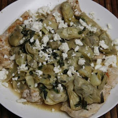 Chicken Saute With Artichokes, Lemon and Mint