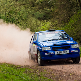 by Paul Scullion - News & Events Sports ( speed, track, sport, fun, stages, rally, durt, event, cars, petrol, moterport, dust, woodland, fast )