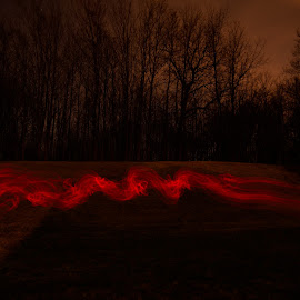red smoke by Jay Anderson - Abstract Light Painting ( red, abstact, paint, night, light, painting, smoke,  )