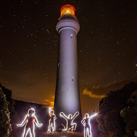 Airey's Inlet light painting by Cory Marshall - Abstract Light Painting