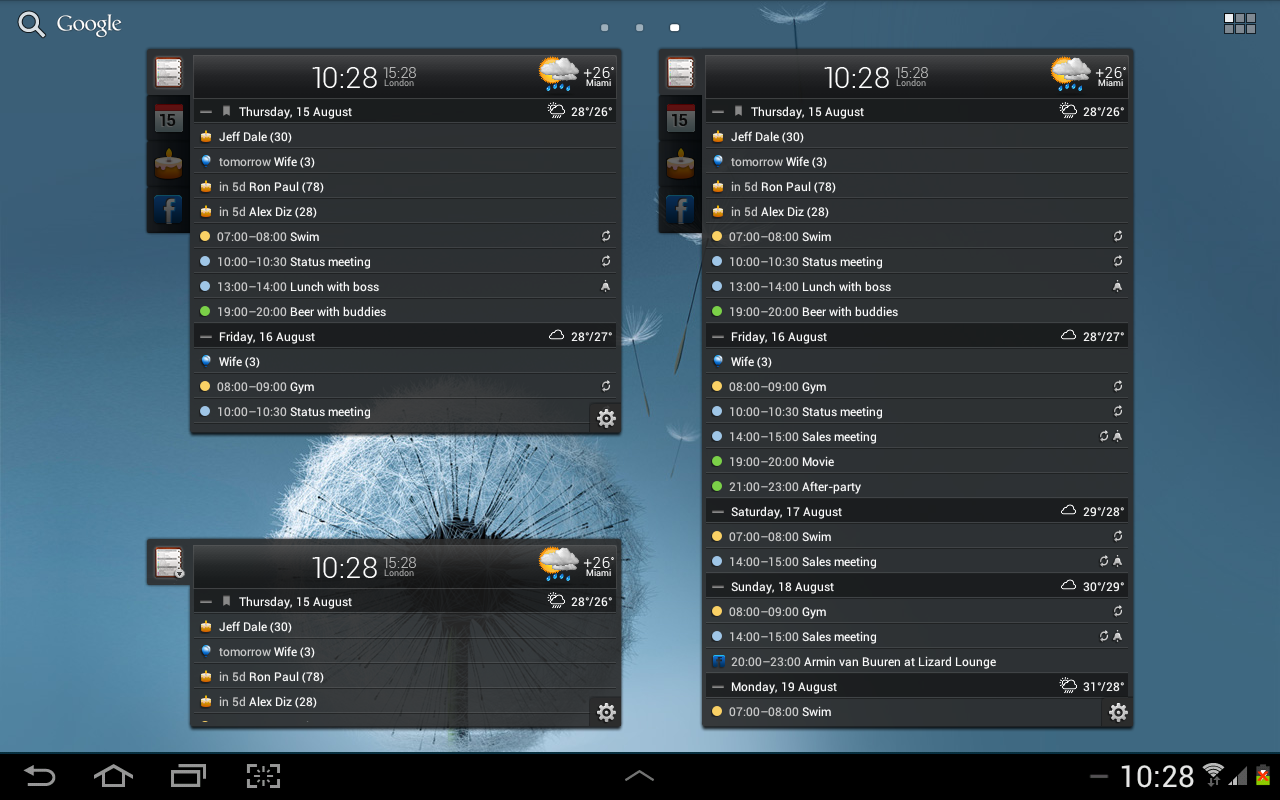 All-in-One Agenda widget Screenshot 8