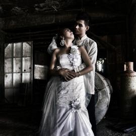 Moment by Zethrock Cortez - Wedding Bride & Groom ( wedding, wedding dress, wedding photographer, bride and groom, couples, Wedding, Weddings, Marriage )