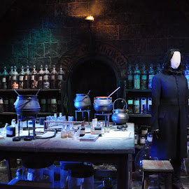 The Potions Classroom by Ruth Holt - Novices Only Objects & Still Life ( warner bros, classroom, snape, london, potions, harry potter )