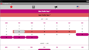 Screenshot of Fertile Days Calculator