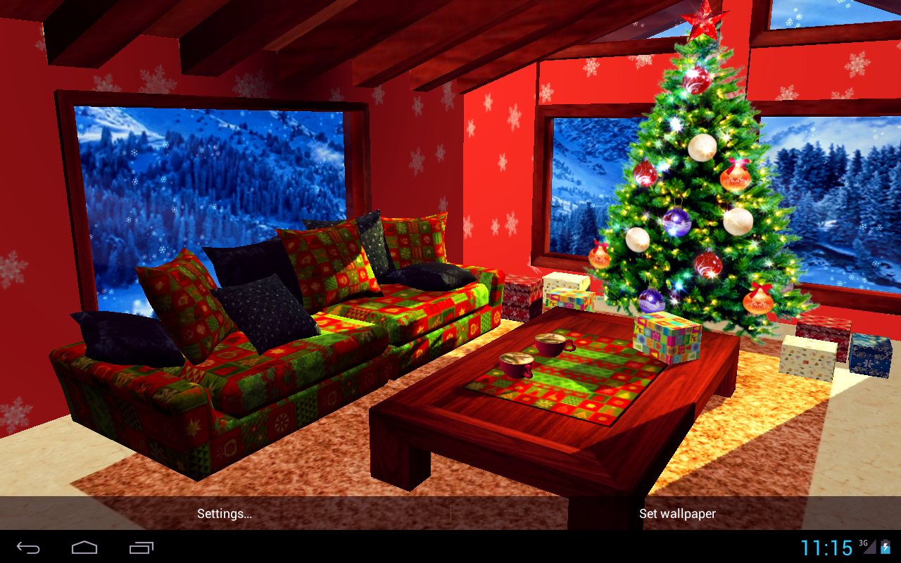 3D Christmas Fireplace HD Full Screenshot 7
