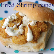 Pan Fried Shrimp Sandwiches with Homemade Tartar Sauce