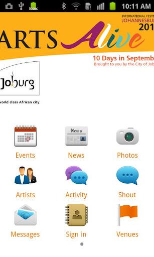 Arts ALIVE Johannesburg 2012