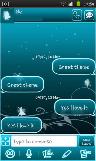 Fairy Blue Go Sms