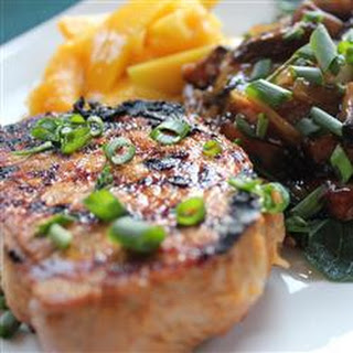 Grilled Asian Ginger Pork Chops