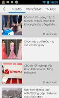 Screenshot of Tin Mới - Tin tuc doc bao moi