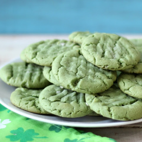 St. Patrick's Day Peanut Butter Cookies