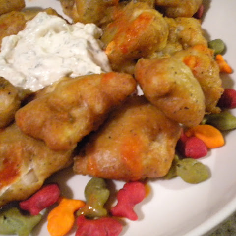 Cajun Nuggets with a Spicy Tarter Sauce